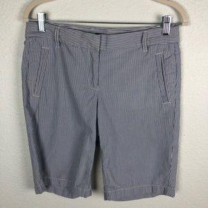 J Crew City Fit Seersucker Bermuda Shorts